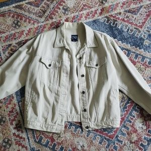 Gap off-white denim jacket, M